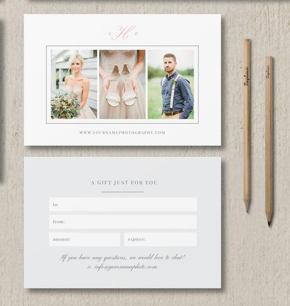 Gift Certificate Template Photography Best Of Instant Download Sale Graphy Studio Gift Card Template