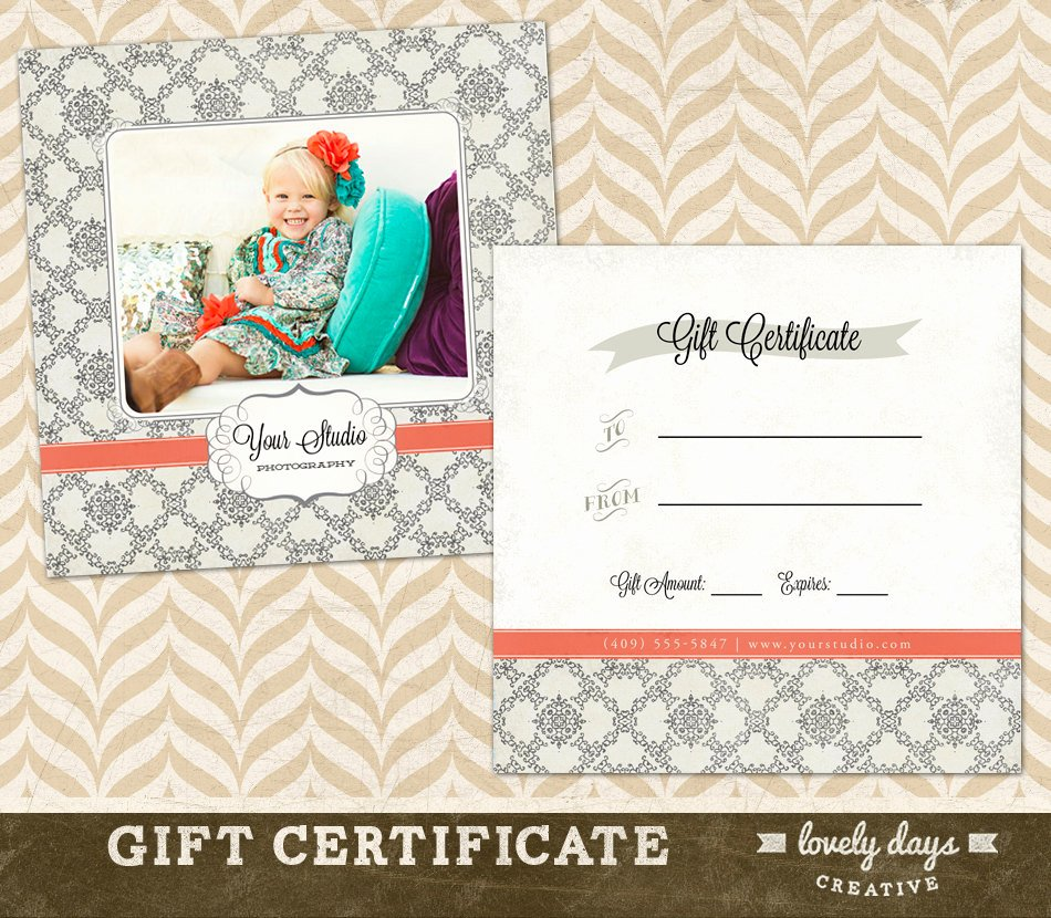 Gift Certificate Template Photography Inspirational Graphy Gift Certificate Template for by