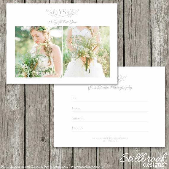 Gift Certificate Template Photography Lovely Graphy Gift Card Template Gift Certificate Marketing