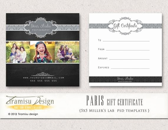 Gift Certificate Template Photography Unique Items Similar to Graphy Gift Certificate Photoshop