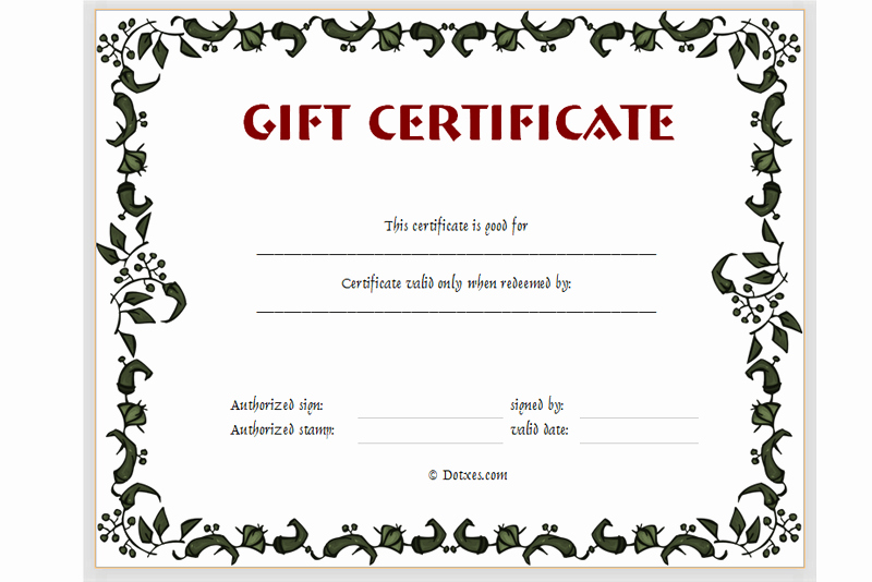 Gift Certificate Template Powerpoint Awesome Gift Certificate Template Floral Design Dotxes