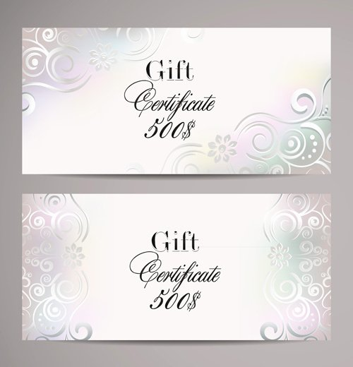 Gift Certificate Template Vector Awesome Gift Certificate Template Free Vector 21 117