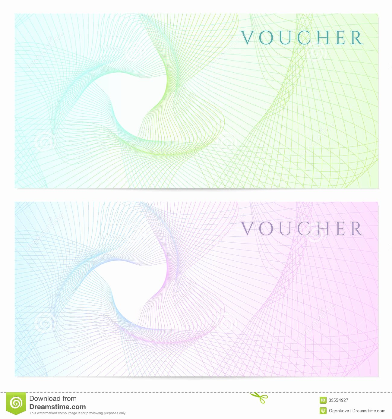 Gift Certificate Template Vector Best Of Gift Certificate Voucher Coupon Template Color Stock