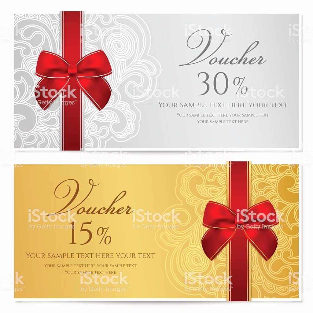 Gift Certificate Template Vector Elegant Voucher Gift Certificate Coupon Template with Border Frame