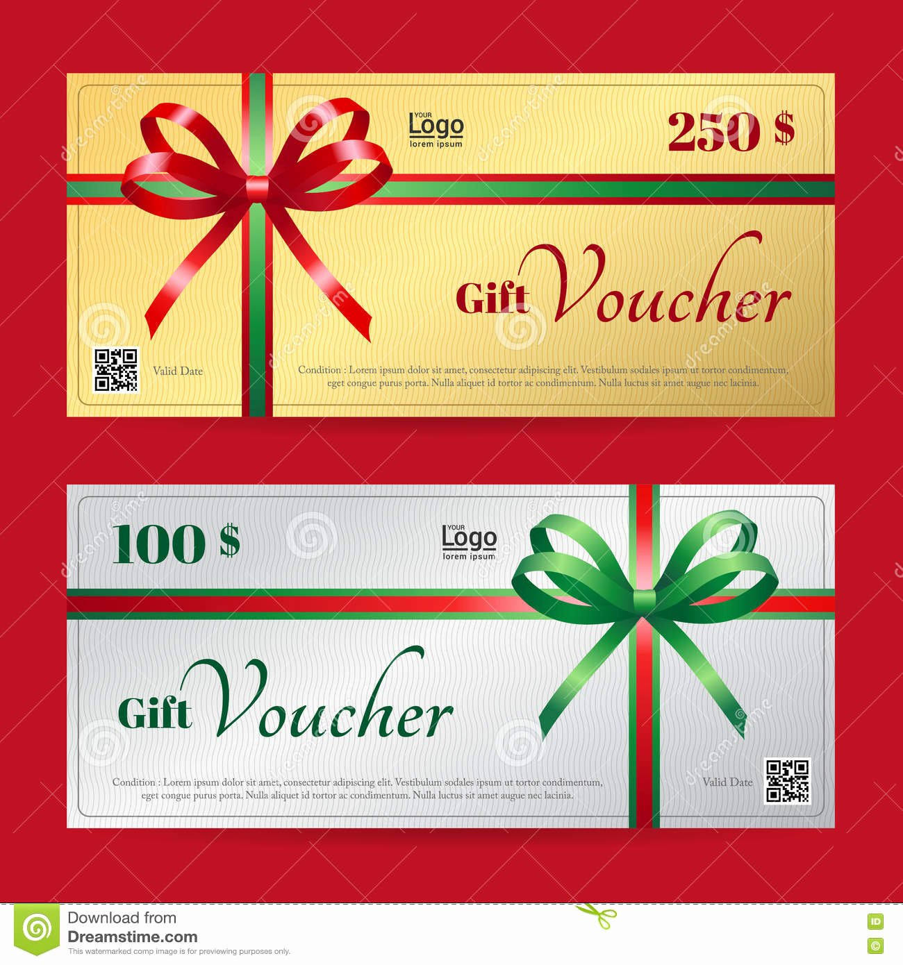 Gift Certificate Template Vector Inspirational Elegant Christmas Gift Voucher Gift Card Template Stock