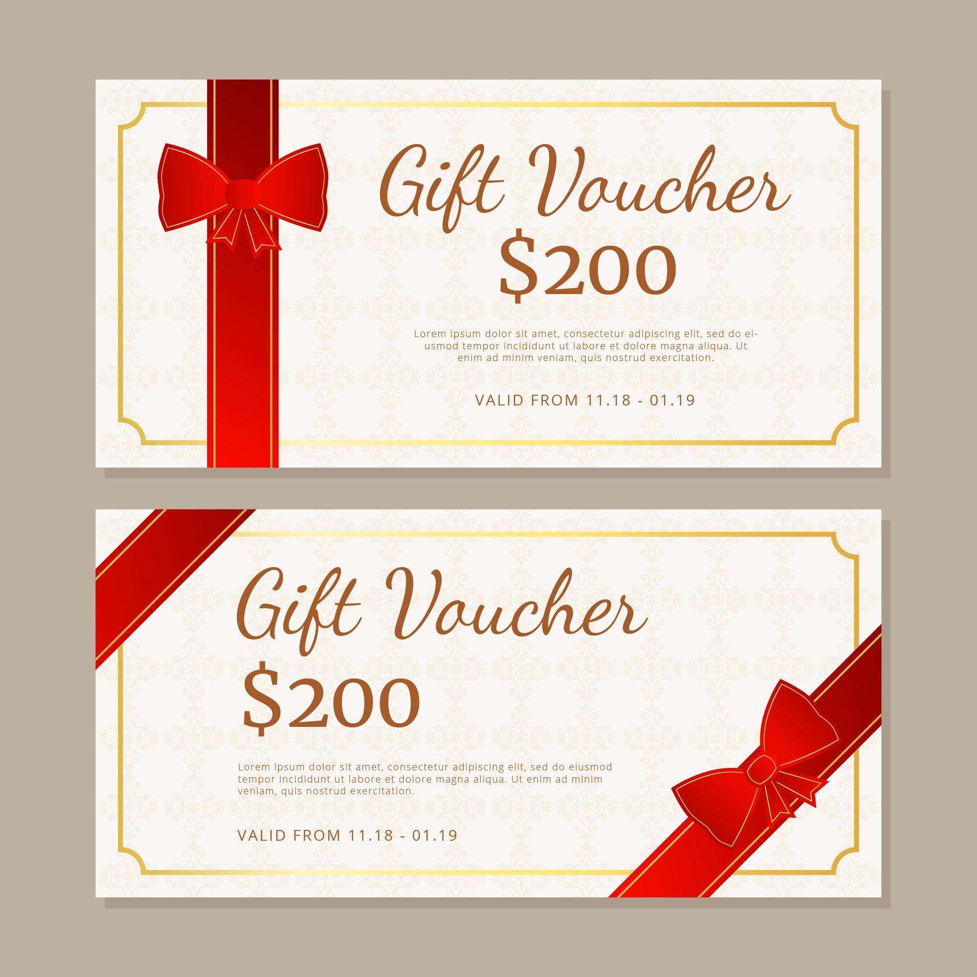Gift Certificate Template Vector Inspirational Gift Certificate Free Vector Art 13 801 Free Downloads