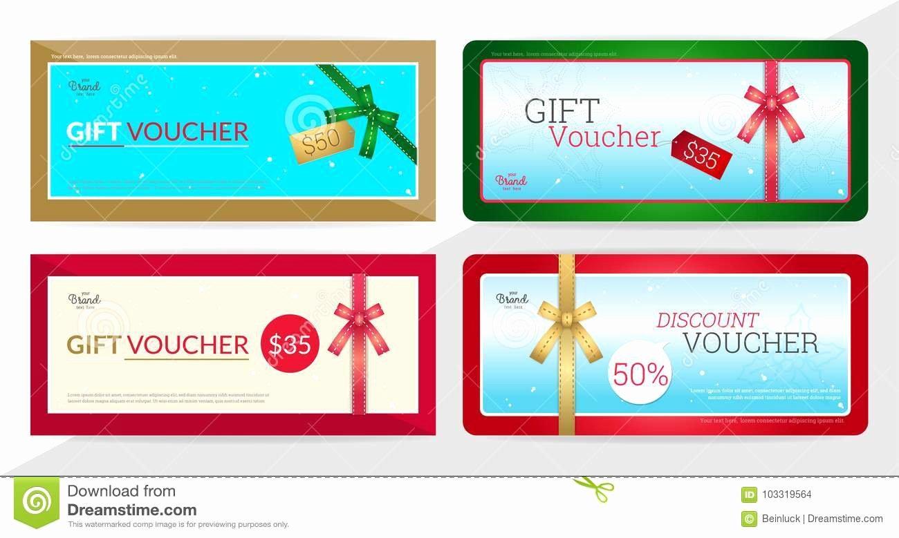 Gift Certificate Template Vector Inspirational Gift Certificate Voucher Gift Card Cash Coupon