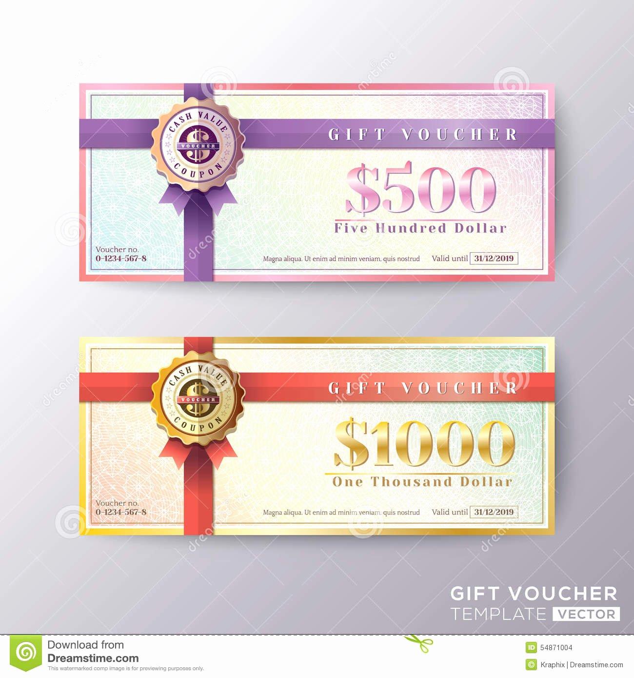 Gift Certificate Template Vector Luxury Gift Certificate Voucher Coupon Card Template Stock Vector