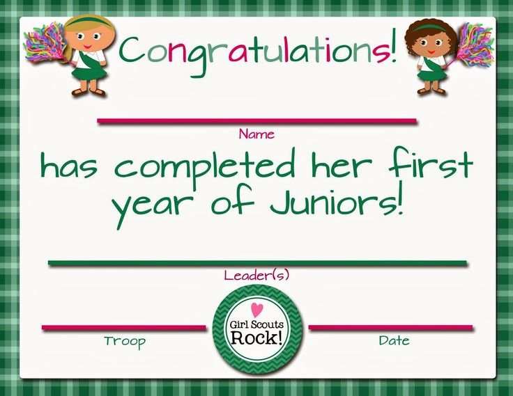 Girl Scout Bridging Certificate Template Awesome 1000 Images About Girl Scout Certificates Printable On