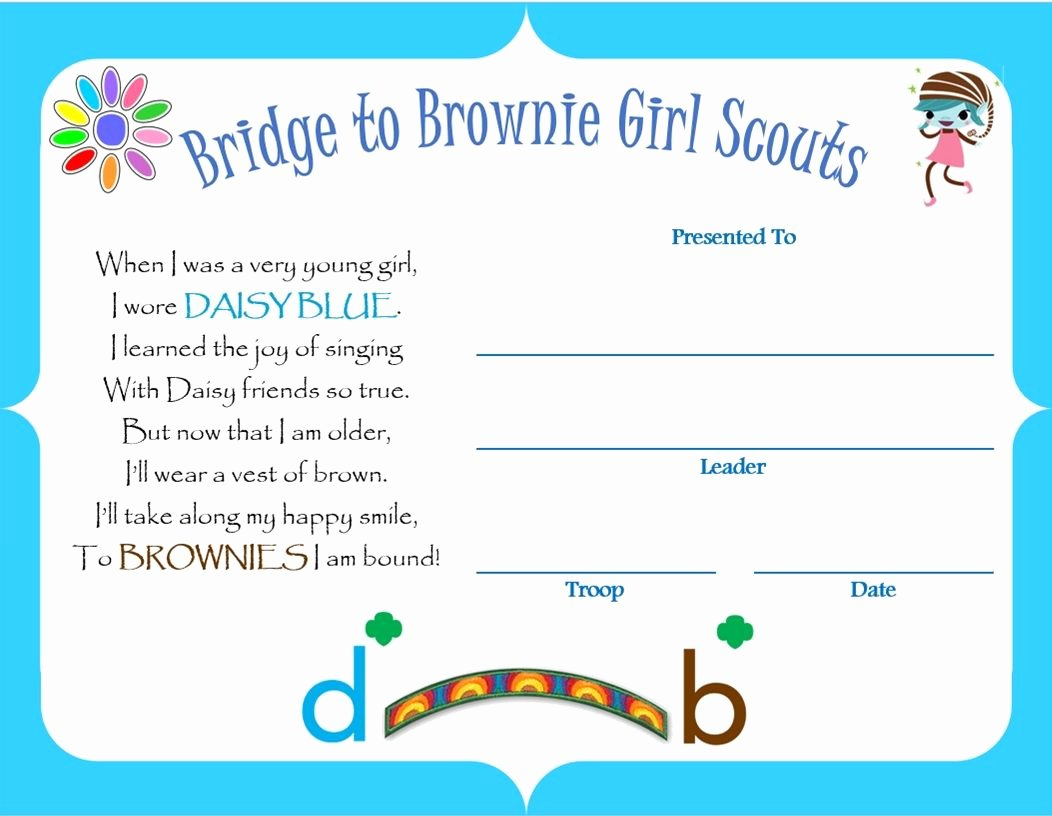 Girl Scout Bridging Certificate Template Inspirational 1000 Images About Girl Scout Certificates On Pinterest