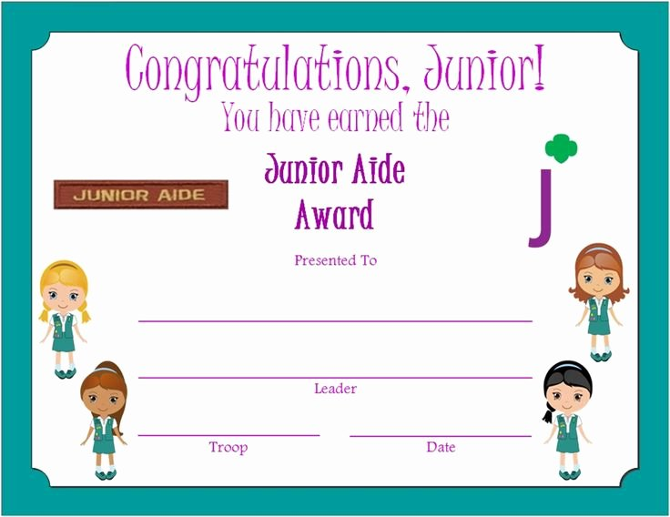 Girl Scout Certificate Template Awesome Pinterest • the World's Catalog Of Ideas