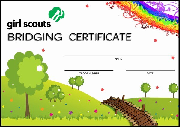 Girl Scout Certificate Template Best Of Bridging Certificate Girl Scouts Line Store