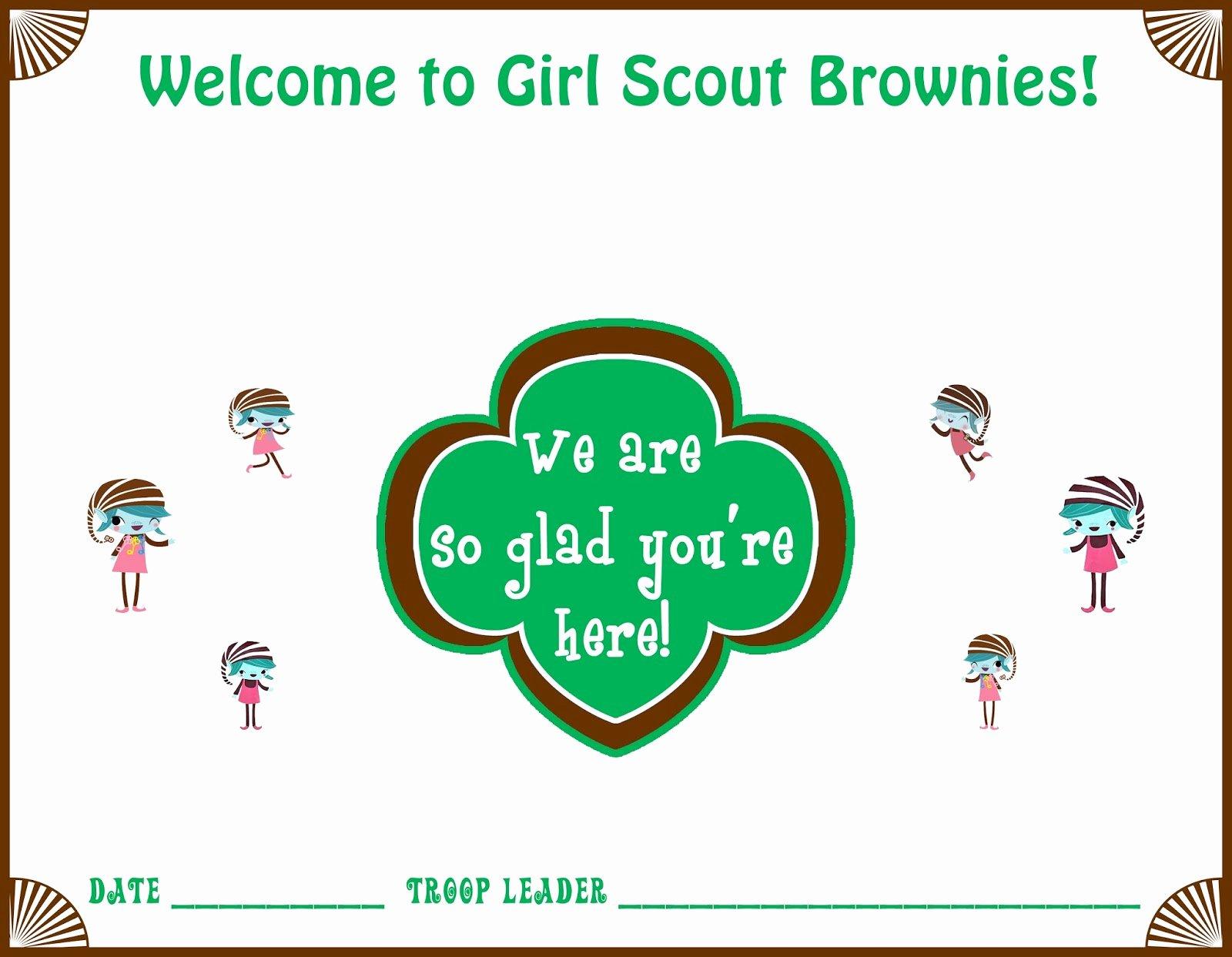 Girl Scout Certificate Template New Girl Scouts Daisy Wel E Certificate Ideas