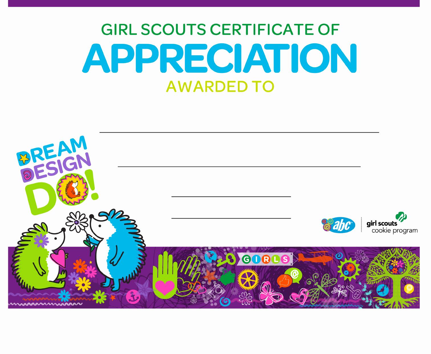Girl Scout Certificate Template Unique Download Girl Scout Achievement Certificate for Free