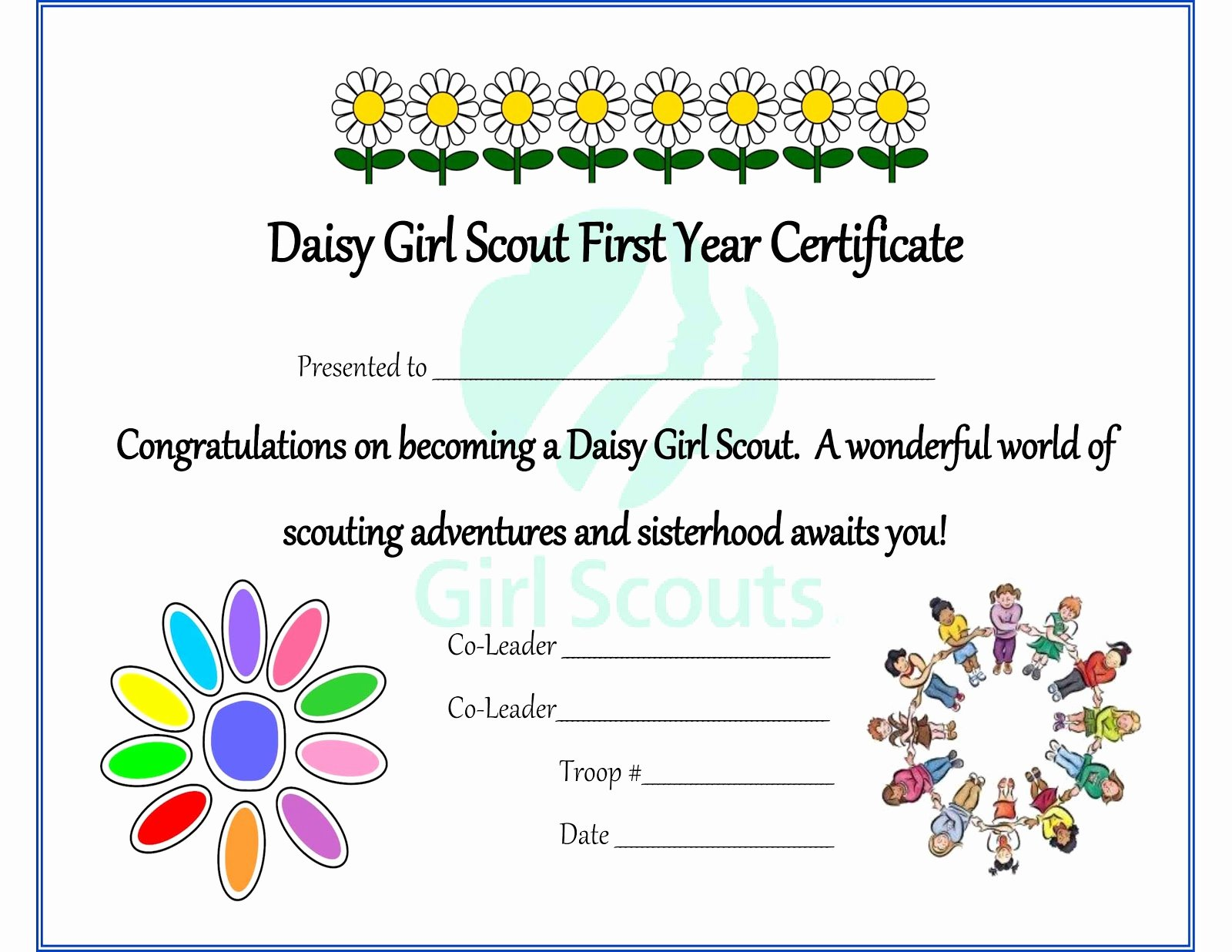 Girl Scout Daisy Certificate Template Best Of Girl Scouts 101