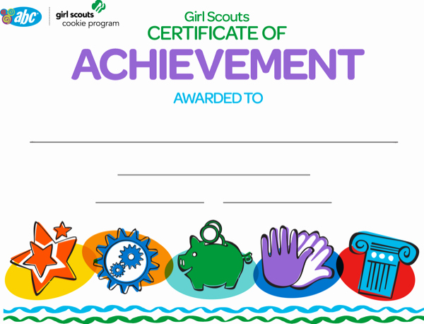 Girl Scout Daisy Certificate Template Inspirational Download Girl Scout Achievement Certificate for Free