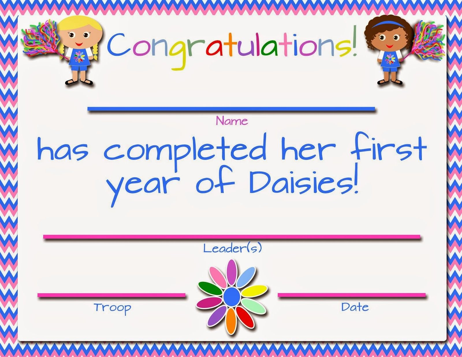 Girl Scout Daisy Certificate Template Inspirational Fashionable Moms Girl Scouts Free Printable First Year
