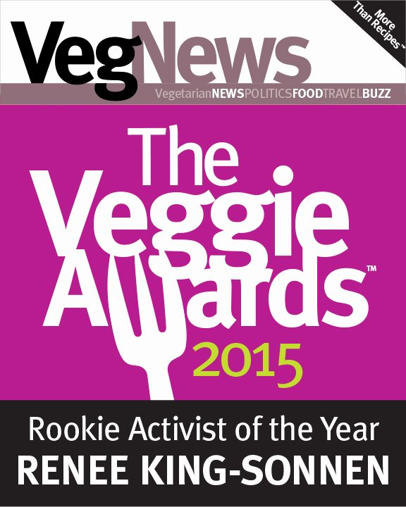 Girlfriend Of the Year Award Awesome Vegnews Rookie Activist Of the Year Award Rowdy Girl