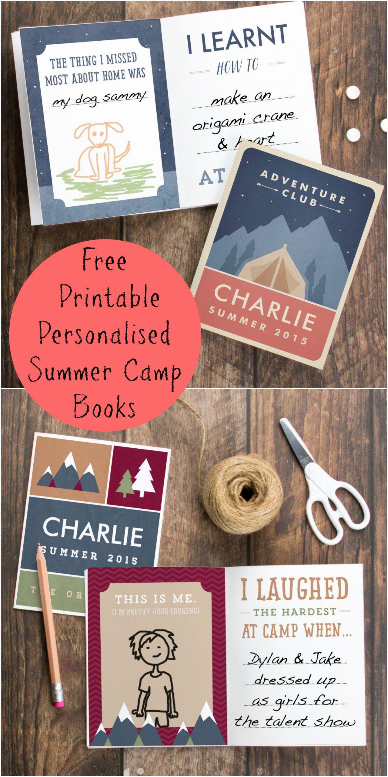 Girls Camp Award Ideas Beautiful Personalised Summer Camp Book Printables