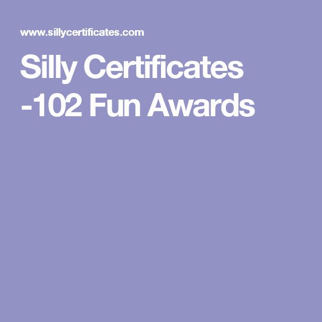 Girls Camp Award Ideas Inspirational Silly Certificates 102 Fun Awards Teachers