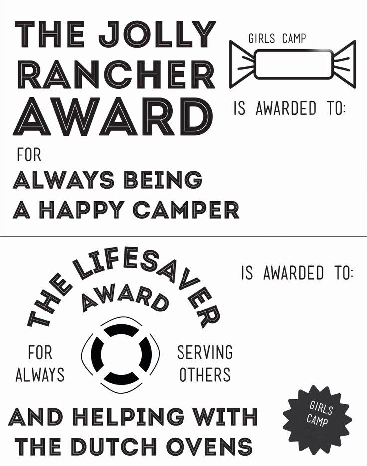 camp awards
