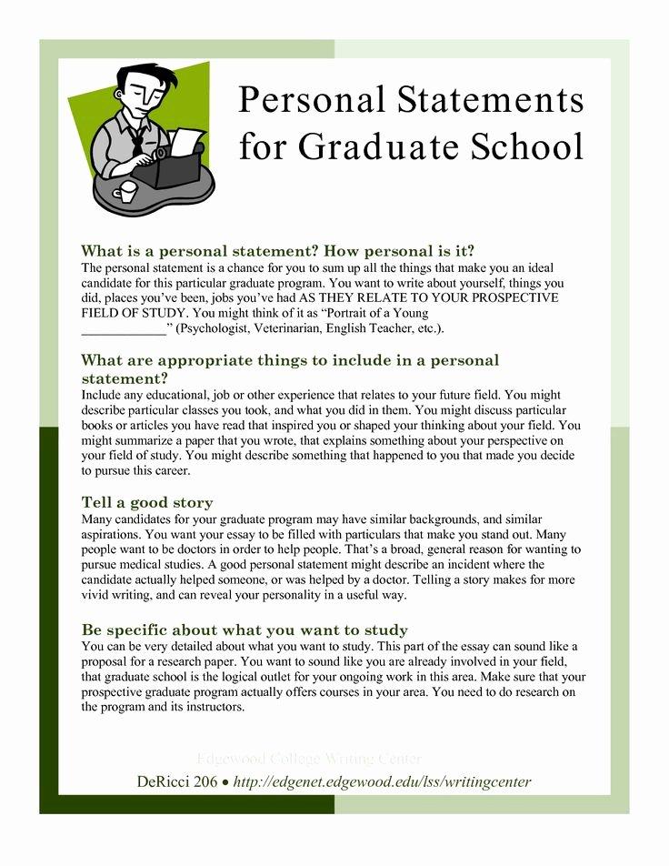 Goal Statement Sample Luxury Sample Personal Statements Graduate School