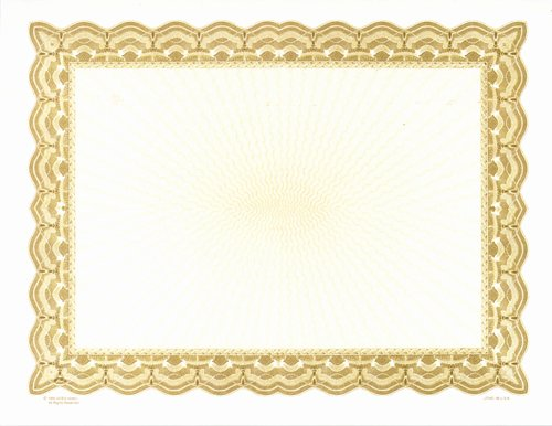 Gold Border Certificate Paper Beautiful 9 Gold Certificate Borders Vector Gold Award