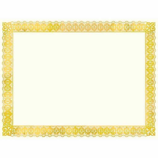 Gold Border Certificate Paper Best Of Premium Award Certificates Gold