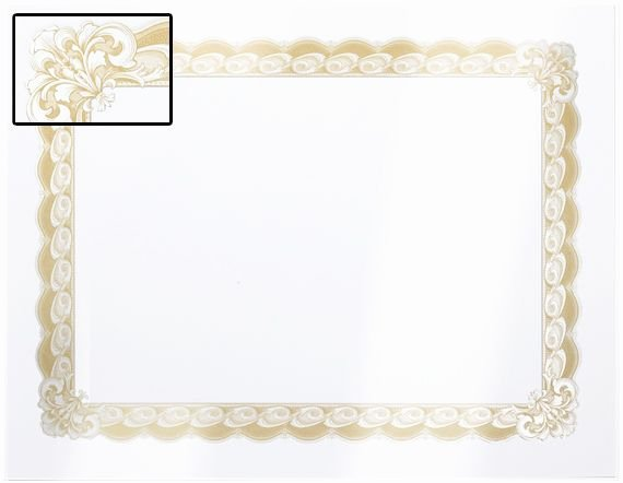 Gold Border Certificate Paper Fresh Imperial Foil Stamped Certificate Paper Certificate and