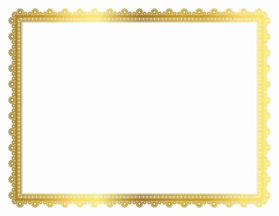 Gold Border Certificate Paper Inspirational Gold Decorative Frame Page Border Digital Frame Border
