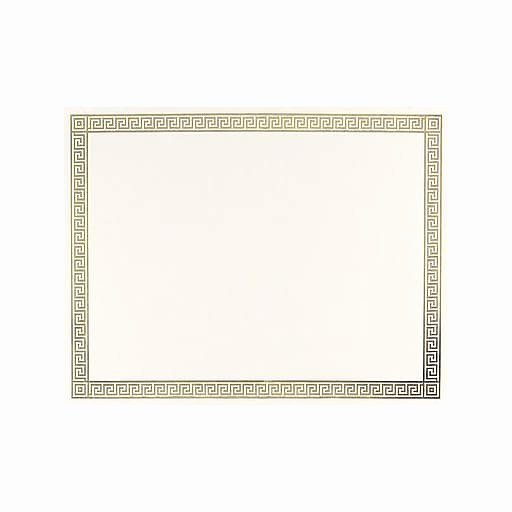 Gold Border Certificate Paper Inspirational Great Papers Channel Gold Foil Border Certificate