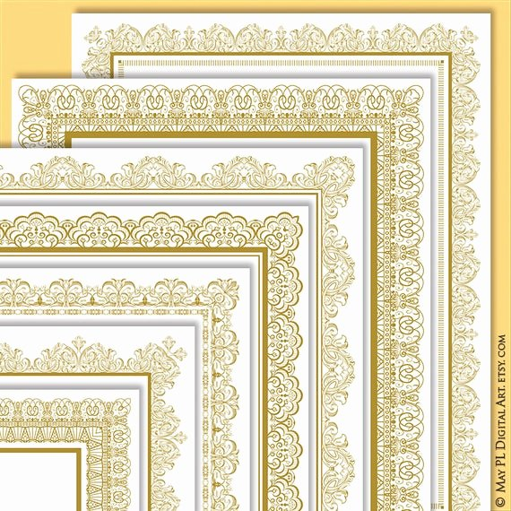 Gold Border Certificate Paper Lovely Page Border Gold Certificate Frame Clipart Create Your Own