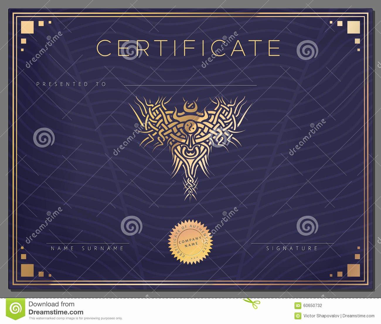 Gold Border Certificate Paper Unique Gift Vintage Certificate Diploma Award Border Template