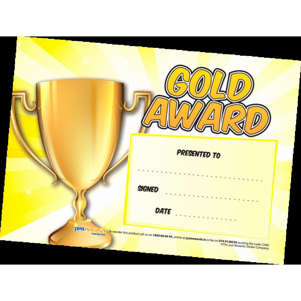 Gold Star Award Template Unique Gold Award Certificates