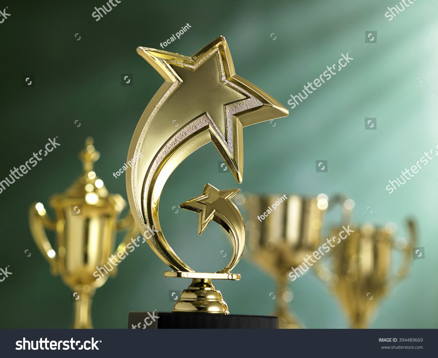 Gold Star Award Template Unique Powerpoint Template Gold Star Trophy Award Johkookom