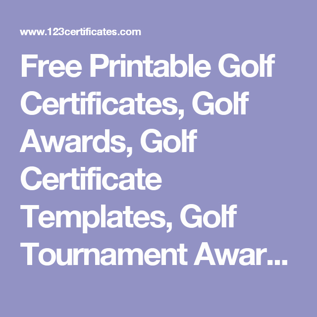 Golf Award Certificate Template Awesome Free Printable Golf Certificates Golf Awards Golf