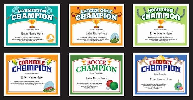 Golf Award Certificate Template Inspirational Backyard Games Certificates Templates Check Out these