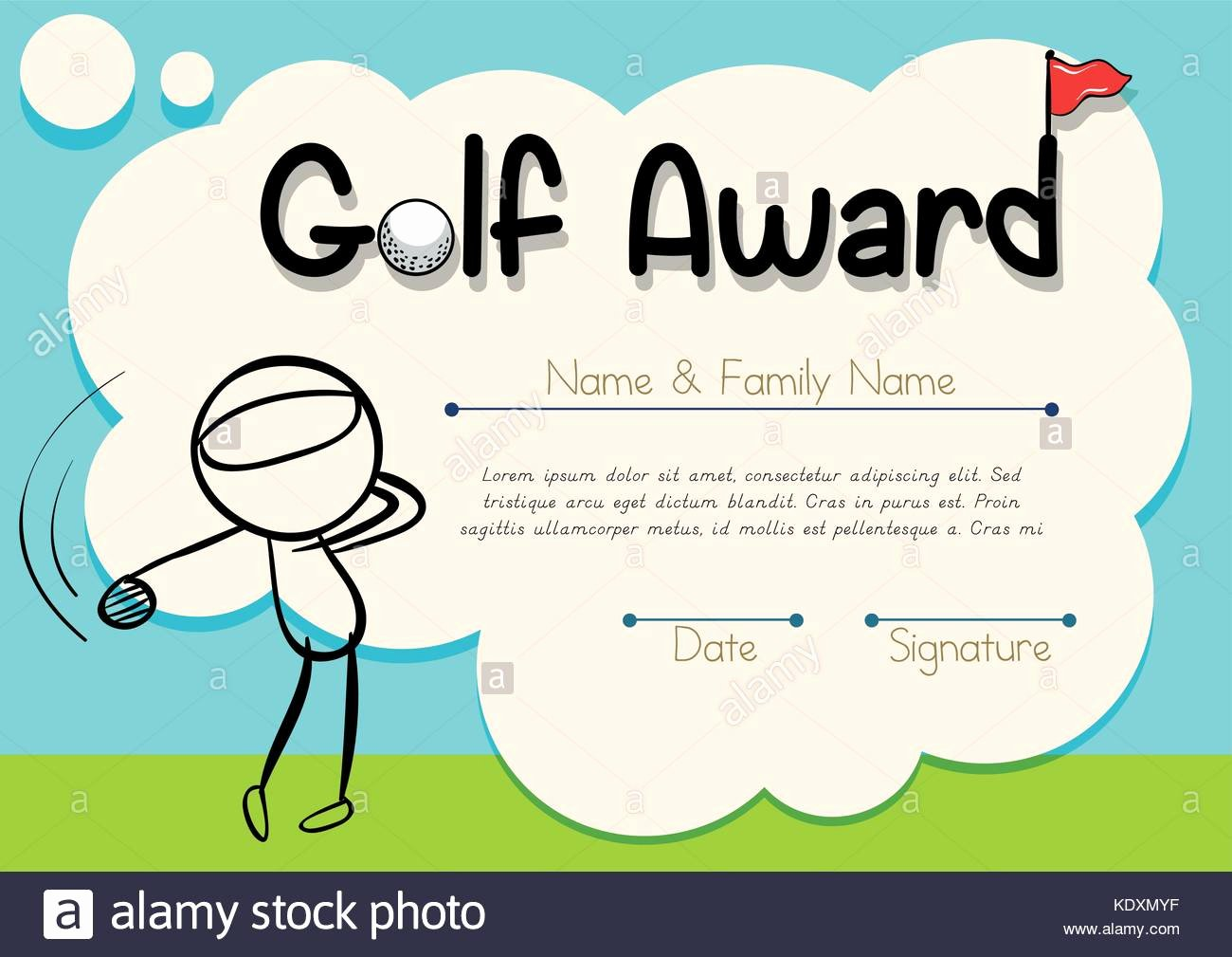 Golf Award Certificate Template Inspirational Golf Prize Stock S & Golf Prize Stock Alamy
