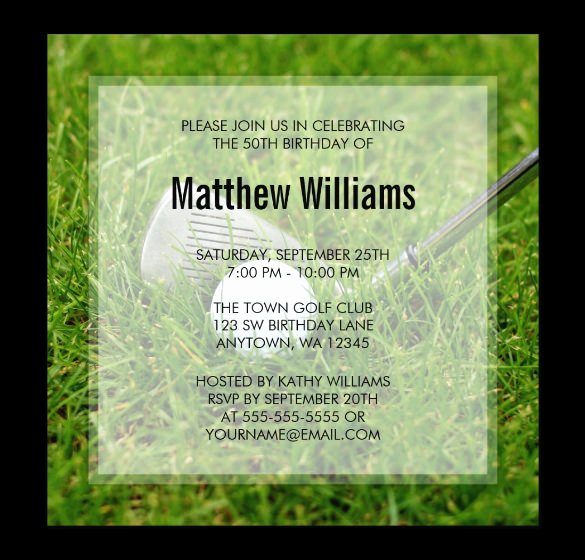 Golf Certificate Templates for Word Awesome 25 Fabulous Golf Invitation Templates & Designs