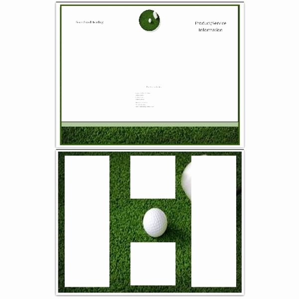 Golf Certificate Templates for Word Beautiful 10 Microsoft Publisher Brochure Golf Template Options
