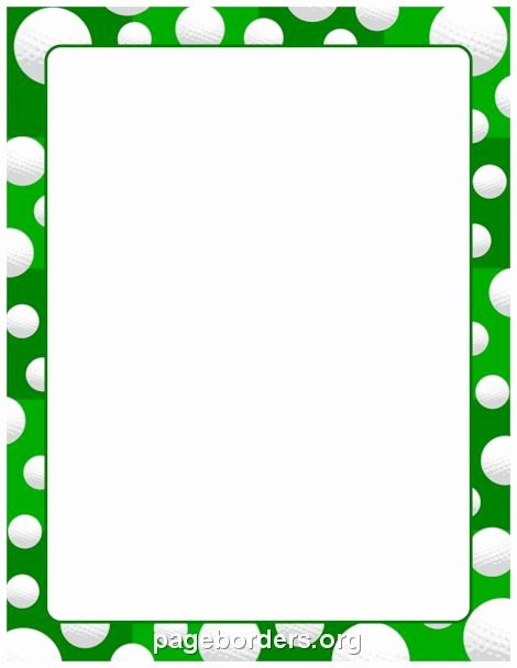 Golf Certificate Templates for Word Elegant Printable Golf Ball Border Use the Border In Microsoft