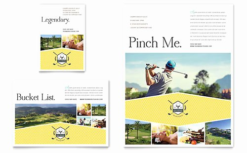 Golf Certificate Templates for Word Luxury Golf Resort Gift Certificate Template Design