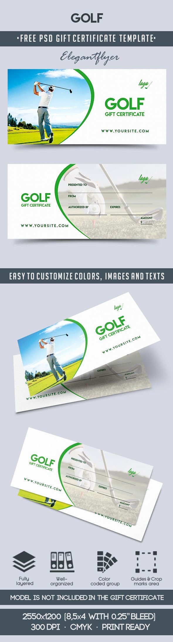 Golf Gift Certificate Template Best Of Golf Club Gift Vouchers – by Elegantflyer