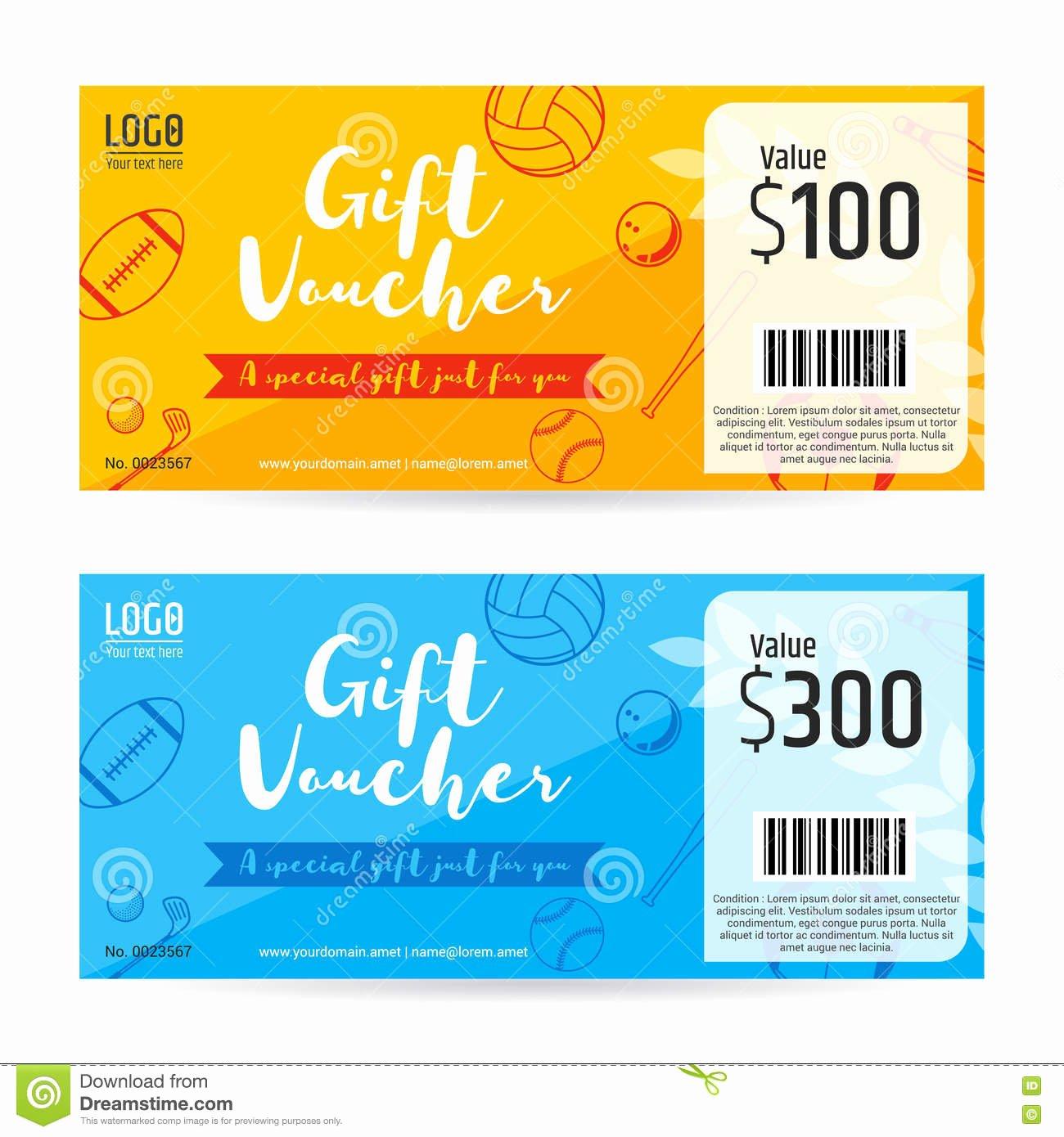 Golf Gift Certificate Template Elegant Gift Certificate Gift Voucher Gift Card Template In