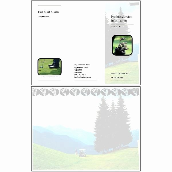 Golf Gift Certificate Template Free Best Of 10 Microsoft Publisher Brochure Golf Template Options