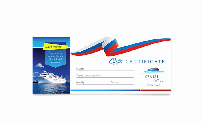 Golf Gift Certificate Template Free Elegant Cruise Travel Gift Certificate Template Word & Publisher