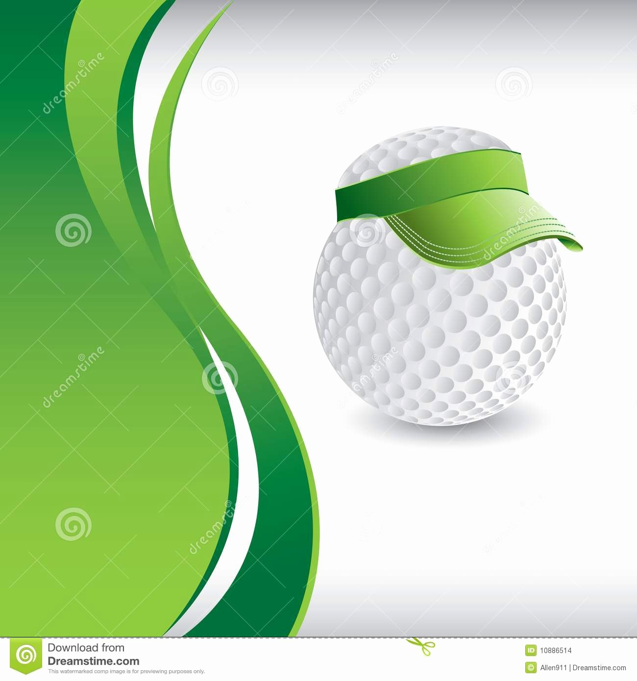 Golf Gift Certificate Template Free Inspirational Golf Ball Head with Visor Template Stock Vector Image