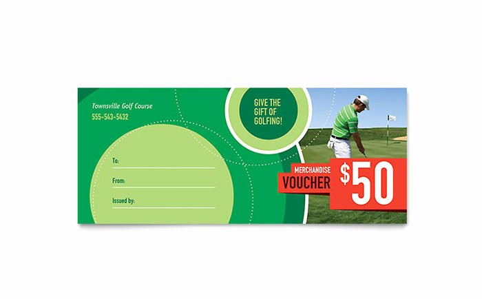 Golf Gift Certificate Template Free Lovely Golf tournament Gift Certificate Template Word & Publisher
