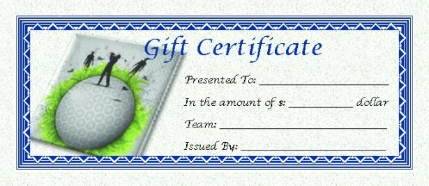 Golf Gift Certificate Template Free New Template Site Libertin