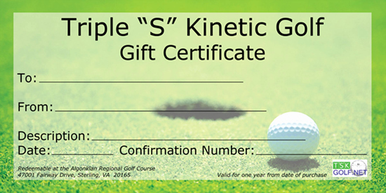 "Golf Gift Certificate Template Free Unique Triple ""s"" Kinetic Golf"